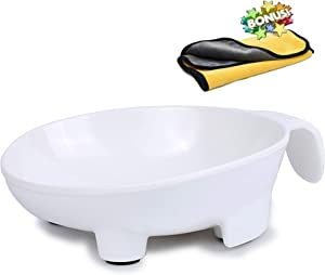 Dog Bowl with Handle Non Slip Cat Food Bowl Hand-Supported Dog Water Bowl Dispenser (Safe Food-Grade Material)