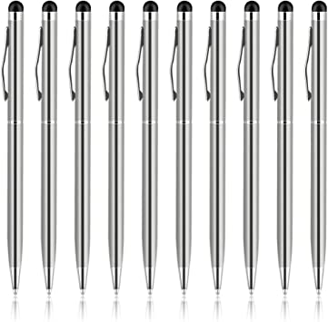 10PCS 2 in1 Touch Screen Stylus Ballpoint Capacitive Pen For Phone Tablet Acces