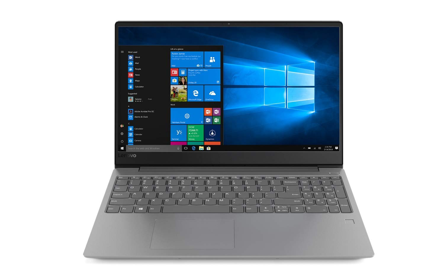 ★決算特価商品★ Lenovo IdeaPad Premium Home Gray and Business Laptop (Intel i5-8250U 10 8th Gen i5-8250U Quad Core, 12GB RAM, 2TB HDD + 16GB Intel Optane, 15.6