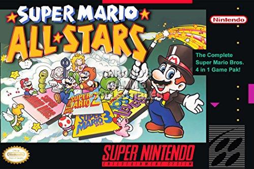"Price comparison product image CGC Huge Poster - Super Mario All Star Super Nintendo SNES Box Art - MAR009 (16"" x 24"" (41cm x 61cm))"