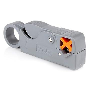 owikar Rotary Cable Coaxial pelacables cortador herramienta portátil cortador de alambre de cable coaxial pelacables Crimpadora