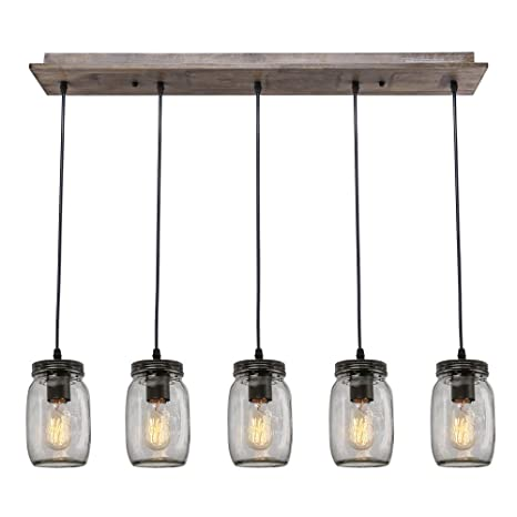Lnc wood pendant lighting 5 light glass mason jar ceiling lights lnc wood pendant lighting 5 light glass mason jar ceiling lights linear chandelier lighting mozeypictures Image collections