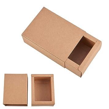 BENECREAT 20 Pack Caja de Cartón Kraft Cajas de Regalo para Fiesta Superior Envase de Joyería - Marrón 11.2x8.2x4.2cm: Amazon.es: Juguetes y juegos