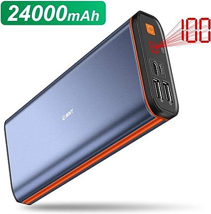 EMNT Batería Externa 24000mAh Power Bank 2.4A Carga rápida 2.0 ...
