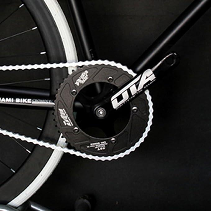 Guarnitura scatto fisso JNP per bicicletta da pista con pedivelle con 48 denti in alluminio