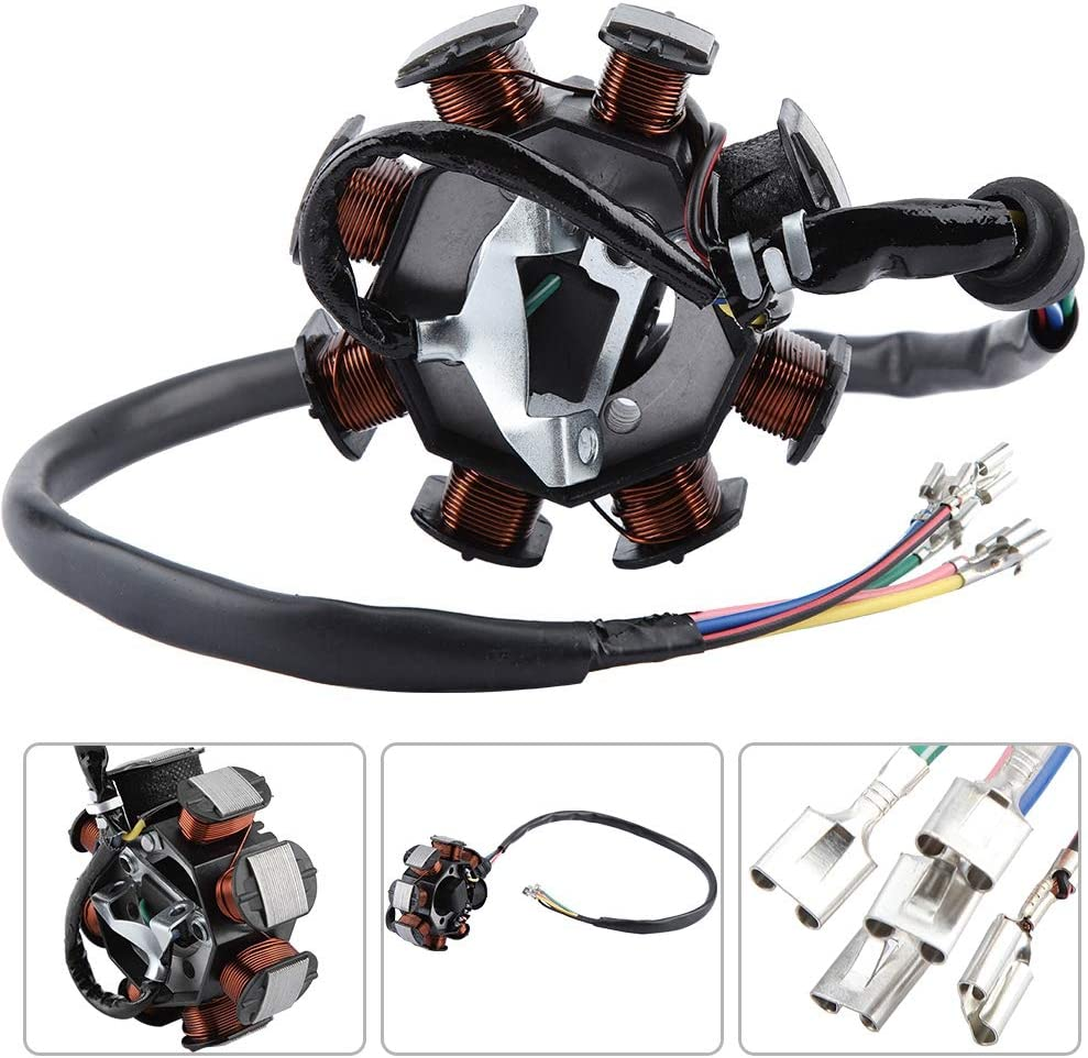 Ignition Coil CDI 8 Coil Racing Ignition Coil CDI for CG 150cc 250cc ATV Dirt Bike Go Kart Iron