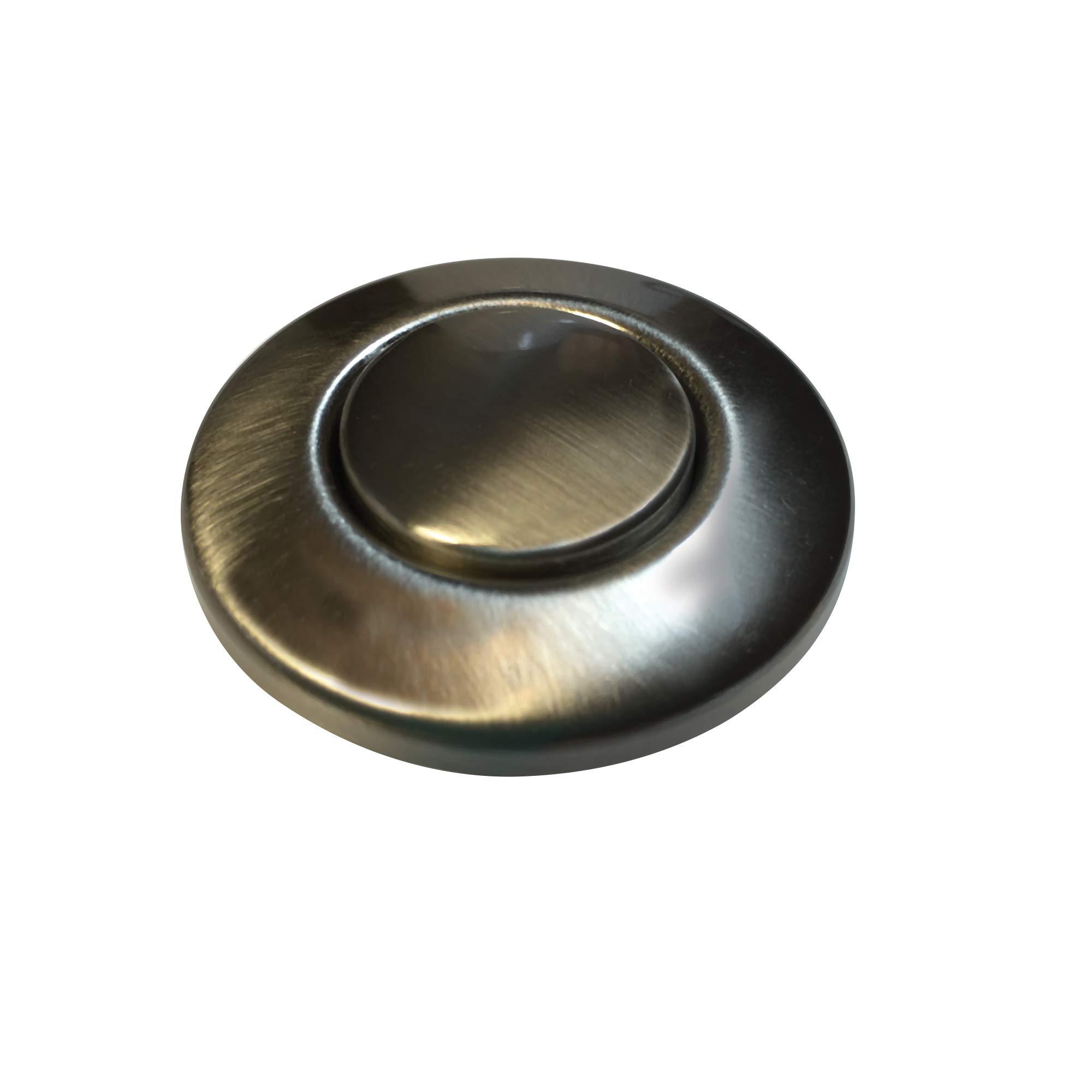 Waste King Garbage Disposal Air Switch Button, Satin Nickel - AS-4201-SN