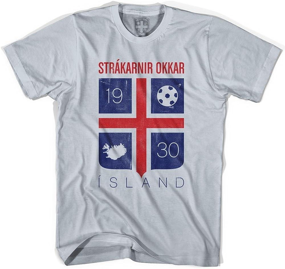 Iceland Island Crest Soccer T-Shirt
