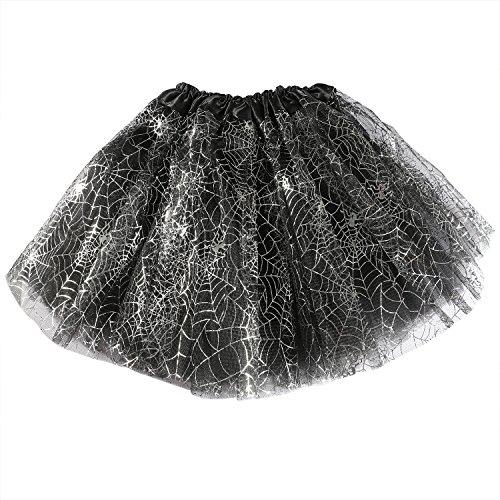 Spider Halloween Costume Pattern (Resinta Spider Web Ballet Tutu Skirt Girls Ballet Dress Princess Skirt for Halloween Party Dress)