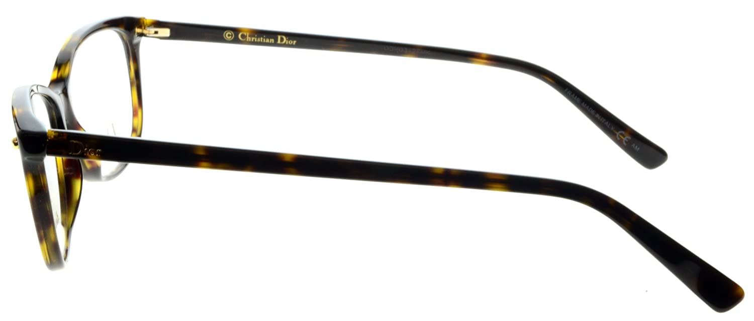 1586ab66f4 Amazon.com  DIOR Eyeglasses 3271 0086 Havana 53MM  Clothing