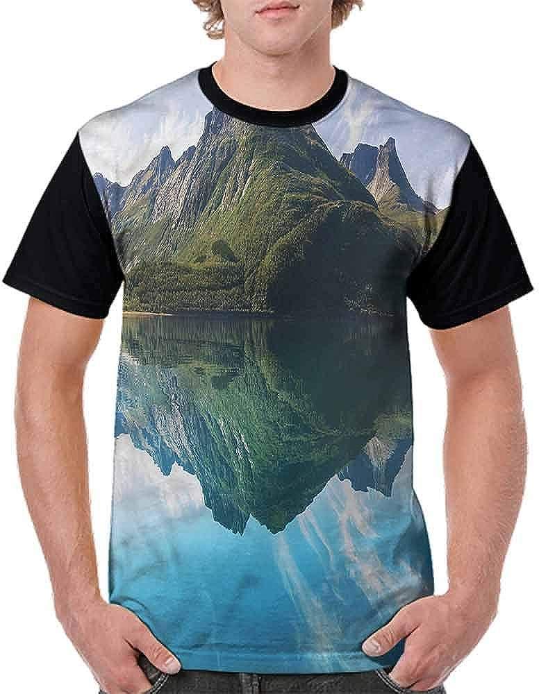 Trend t-Shirt,Sharp Peaks Reflection Fashion Personality Customization