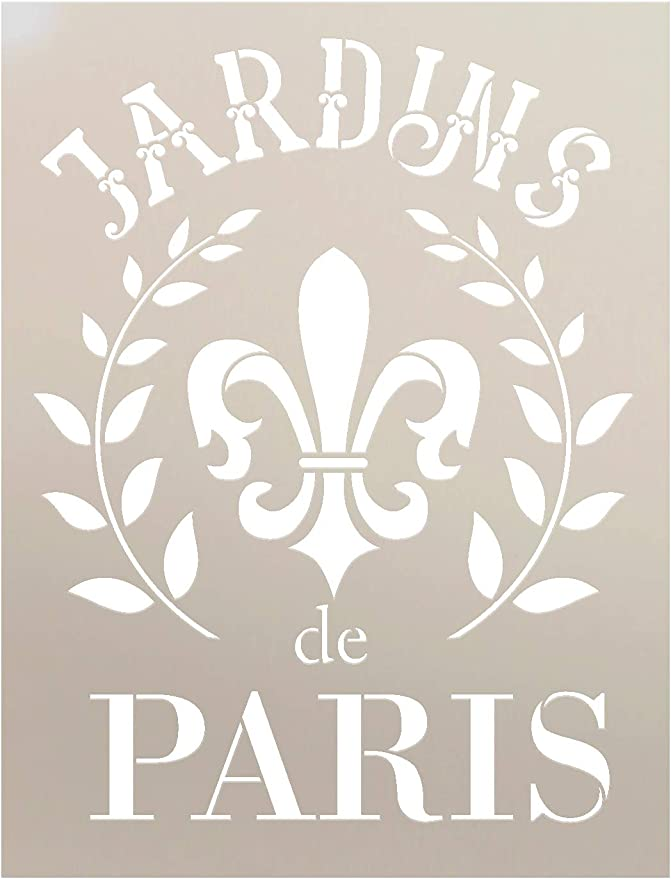 """4.5/"""" FLEUR DE LIS STENCIL SCRAPBOOK CRAFT PATTERN ART TEMPLATE PAINT NEW"""