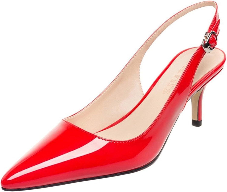 Gome-z Pointed Toe Navy Blue Patent Patent Stilettos Women Pumps Dress Bride Shoes 6.5 cm Low Heel US Size 5-15 Black 15