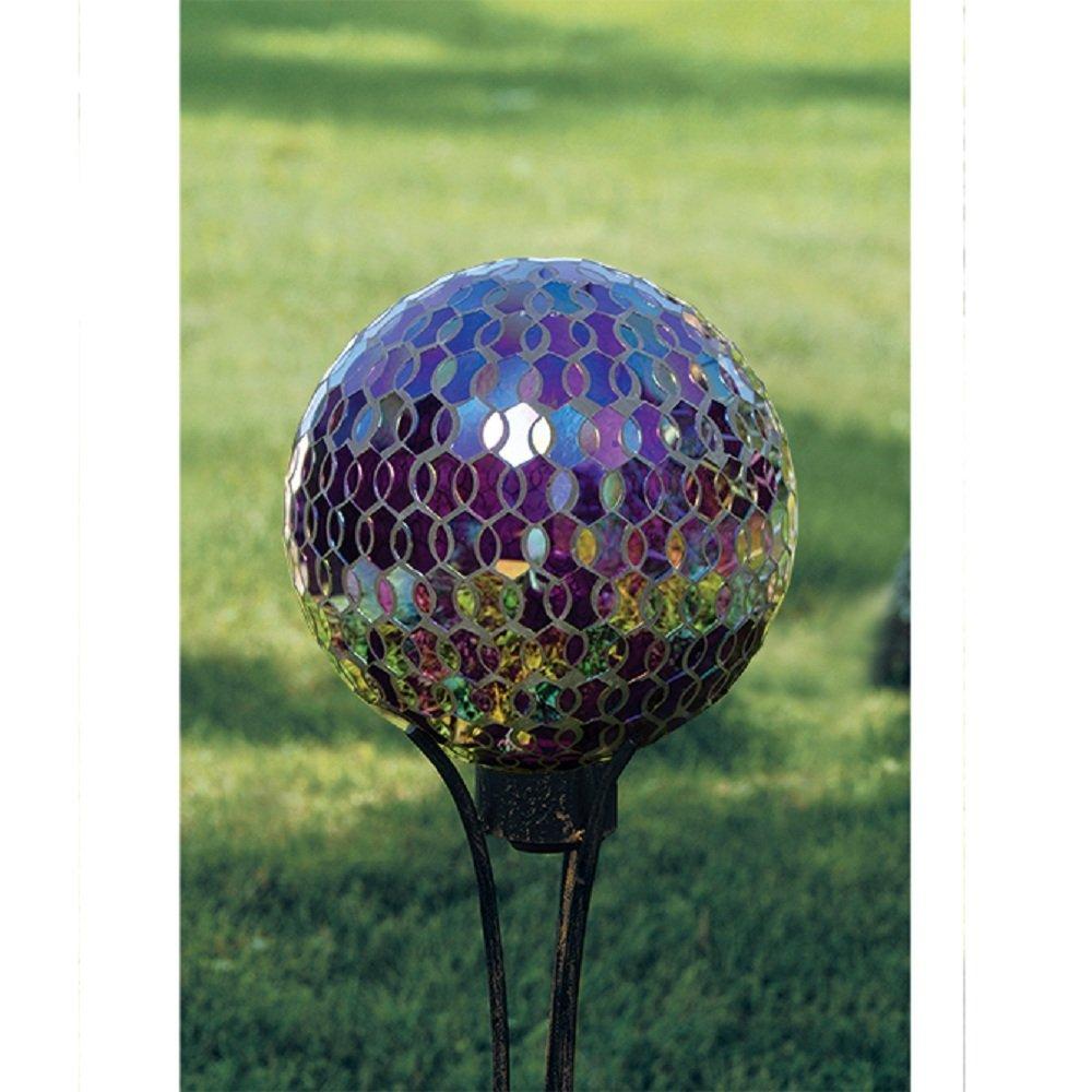 Carson Mosaic Plum Iridescence 10 Gazing Ball
