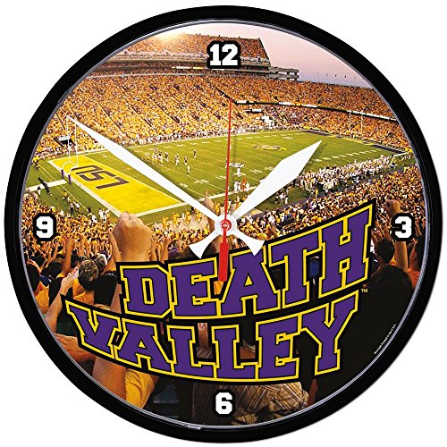 NCAA 2763011 Louisiana State University Round Wall Clock, (Louisiana State University Wall Clock)