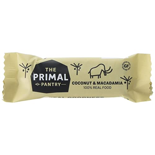 THE PRIMAL PANTRY Coconut & Macadamia Raw Paleo Bar 45g (PACK OF 18)