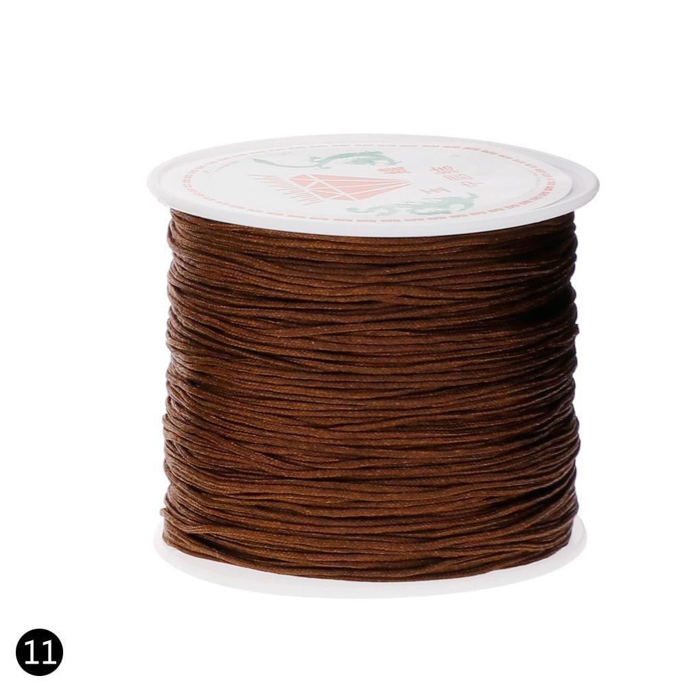 Niome Nylon Cord, Thread Chinese Knot Macrame Rattail Bracelet Braided String Black