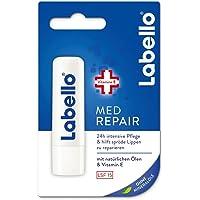 Labello Med Repair w 1 opakowaniu (1 x 4,8 g), sztyft do pielęgnacji ust z ochroną przeciwsłoneczną (SPF 15) i witaminą…