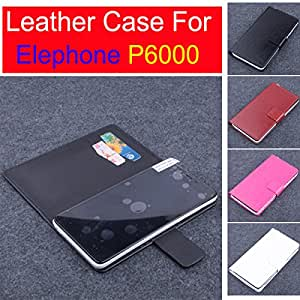 High Quality New Original Elephone P6000 Leather Case With Wallet Flip Cover for Elephone P6000 Case Phone Cover In Stock --- Color:White
