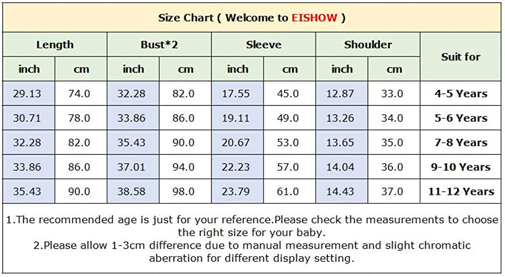 EISHOW Kids Girls Warm Winter Hooded Down Coat Thick Pocket Puffer Jacket Parka Padded Overcoat Outwear 2-12 Years