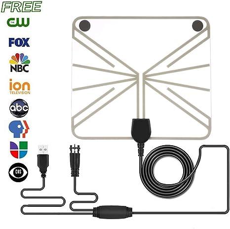ZUZU Antena de HDTV para Interiores, Antena de TV de HDTV Antenas con Amplificador Amplificador y Antenas de TV alimentadas TV Digital HD amplificada: Amazon.es: Deportes y aire libre
