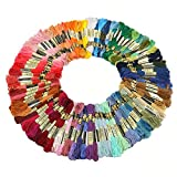 Labellevie Cross Stitch Floss Mixte Color Embroidery Floss Sewing Threads 100 Skeins