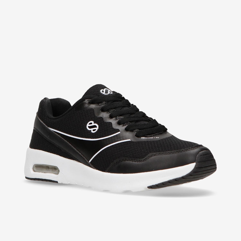 Zapatillas Running Negras Silver (Talla: 36): Amazon.es: Deportes ...