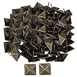 RDEXP 30x30mm Bronze Upholstery Tack Decorative Nail Furniture Square Rivet Bronze Set of 100