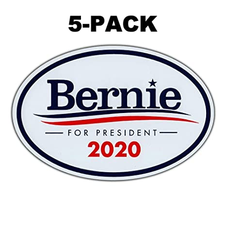 3 Adelia Co 6.5 x 4.5 Bernie Sanders for President Oval Bumper Sticker Decal 2020 United States Presidential Election Candidate GOP
