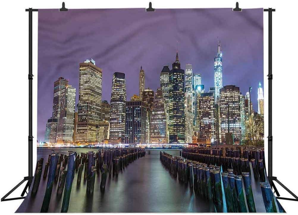 6x6FT Vinyl Photography Backdrop,New York City,Manhattan Skyline Photo Background for Photo Booth Studio Props