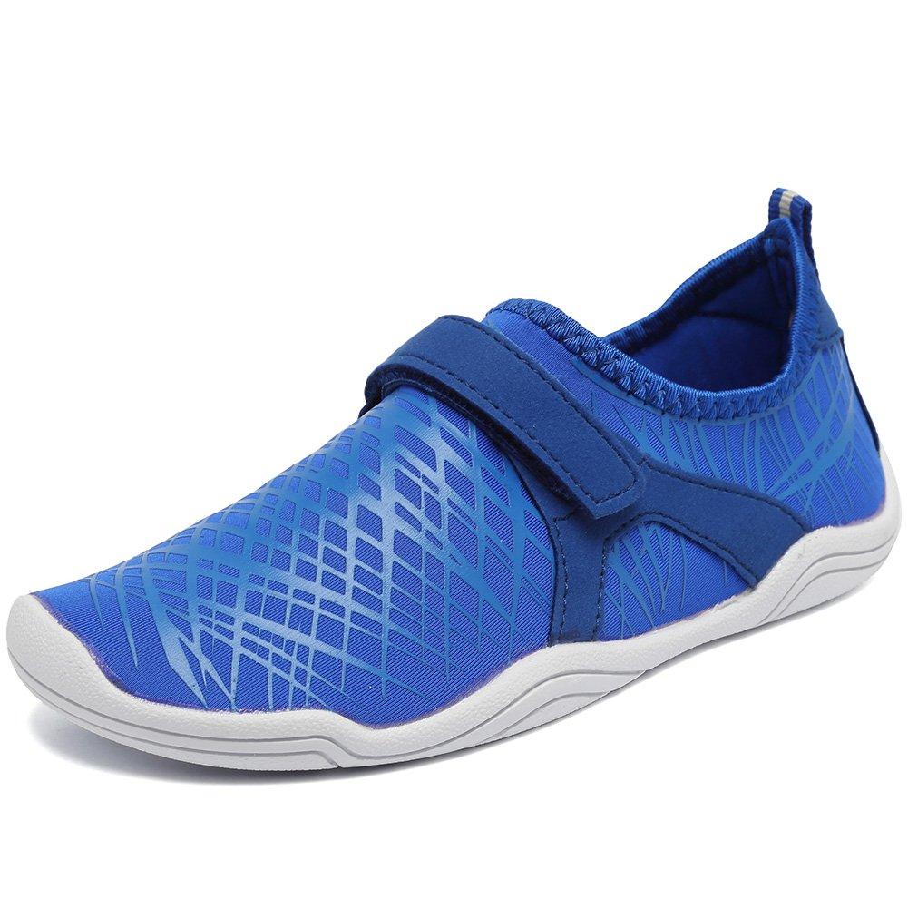 Fantiny Mens & Womens Water Shoes Lightweight Comfort Sole Easy Walking Athletic Slip on Aqua Sock(Toddler/Little Kid/Big Kid) Driving DKSX-Deep blue-43 by CIOR