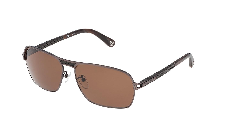 Loewe SLW456M61A41P Gafas de sol, Shiny Antique Brown, 61 ...