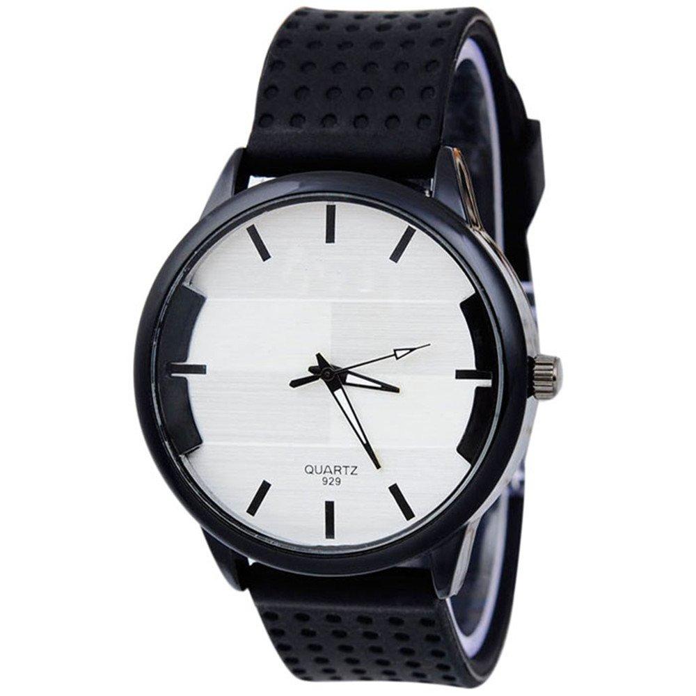 Sinmaメンズカジュアルファッション腕時計ステレオサーフェス腕時計シリコンブレスレットWrist Watches ブラック B071RRNN4Z ブラック ブラック