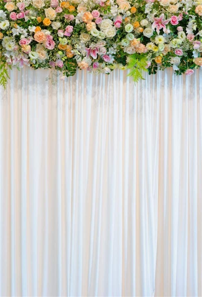 Amazon Com Leyiyi 6x9ft Wedding Ceremony Room Interior Backdrop Marriage Stage Curtain Floral Frame Garland Background Romantic Engagement Party Flower Bridal Shower Adults Portrait Studio Prop Vinyl Banner Camera Photo