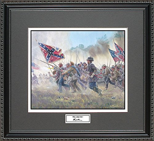 Mort Kunstler WITH A REBEL YELL II Framed Wall Art Civil War Print, (Rebels Art Glass)