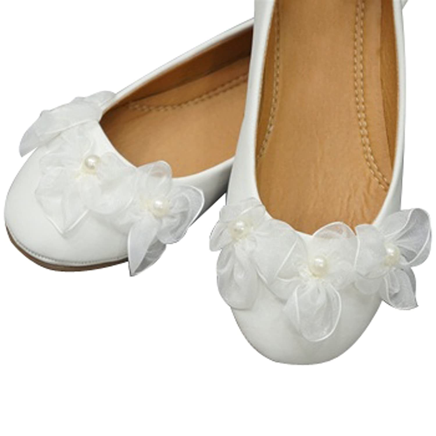Amazon Classy White Flower Girl Shoes Shoes
