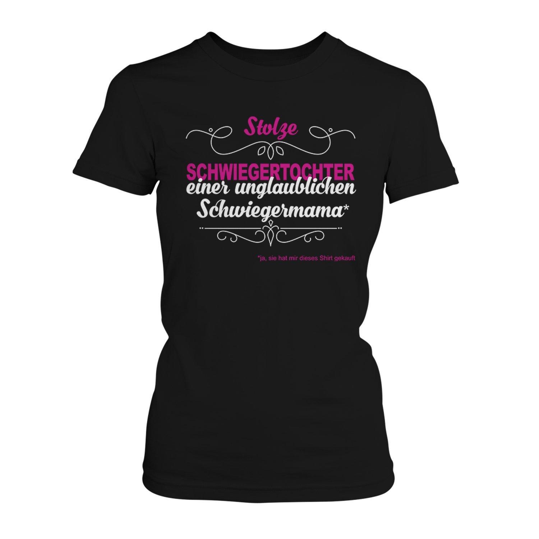 Stolze Schwiegermama Damen T-Shirt Schwiegertochter Geburtstag Geschenk Idee Neu