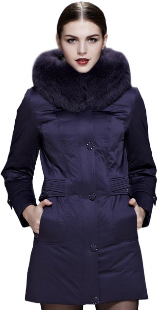 Fast Sister Women's Stylish Goose Down Jacket Thickened Down Coat -M Green by Fast Sister