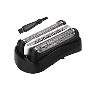 32B Shaver Replacement Foil and Cutter for Compatible with Braun Series 3, Shaver Razor Blade Cassette Head Compatible with Braun 320 330 340 350CC 370cc-4 390cc-4 Models by Ketofa