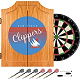 Trademark Global NBA San Diego Clippers Wood Dart Cabinet, One Size, Brown