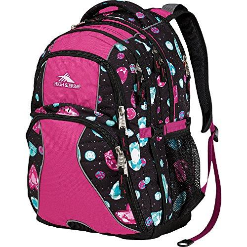 High Sierra Swerve Backpack (Black Jewels/Purple)