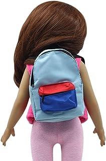 für American Girl Puppe Reißverschlusstasche blau, Malloom Doppelgurte Rucksack Schultasche für 18 Zoll Unsere Generation für American Girl Doll