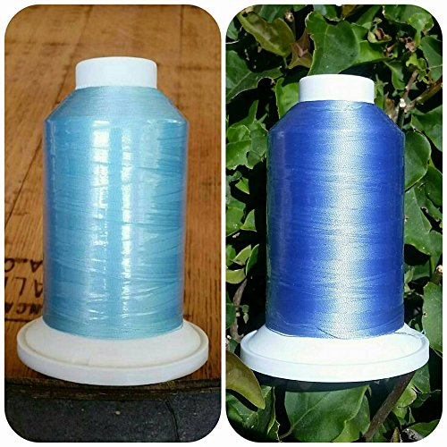 SolarActive Color Changing Embroidery Thread 3000 meters- Blue to Purple -IN STOCK NOW by POPULAR DEMAND! ()