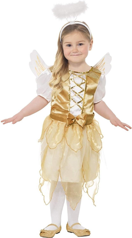 Niña Oro Angel Gabriel Hada de la Navidad de la natividad disfraz ...