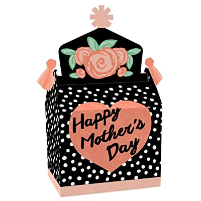 Big Dot of Happiness Best Mom Ever - Treat Box Party Favors - Mother's Day Party Goodie Gable Boxes - Set of 12: Toys & Games
