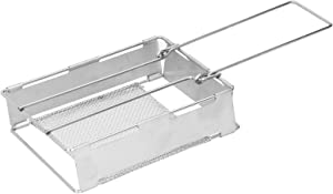 Toaster Rack, Easy To Store Toaster, Convenient To Operate Outdoor Foldable Stainless Steel Bread Toaster for Camping Hiking