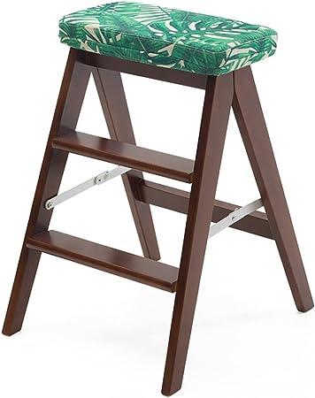 LAXF- Sillas Escalera Plegable Madera Escalera de Madera Silla Escalera de Madera Multifuncional Silla Escalera Plegable con 2/3 Pasos para la decoración del hogar y Biblioteca (Color : #2): Amazon.es: Hogar