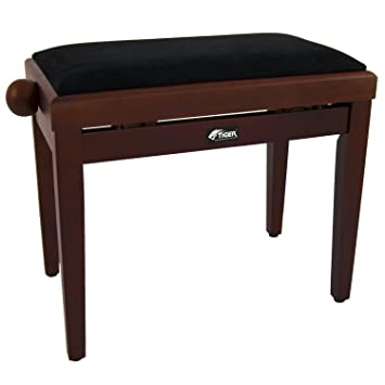 Tiger Piano Stool in Mahogany - Height Adjustable - Cushioned Wooden Piano Stool  sc 1 st  Amazon UK & Tiger Piano Stool in Mahogany - Height Adjustable - Cushioned ... islam-shia.org