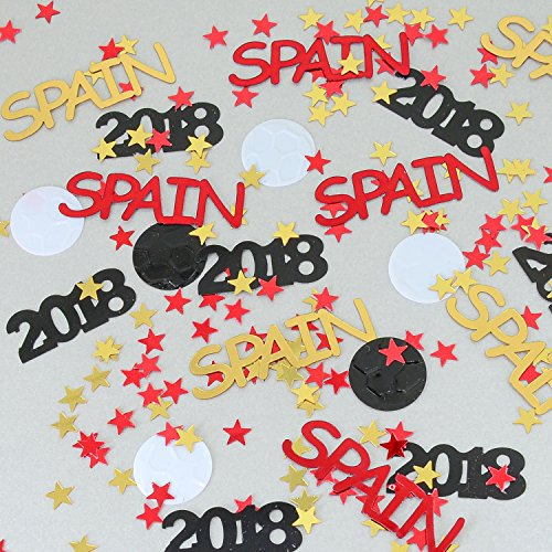 Spain Espana World Cup Confetti 2018 Ball, Stars Red, Gold - Pouched #6164 - Free Ship by Jimmy Jems