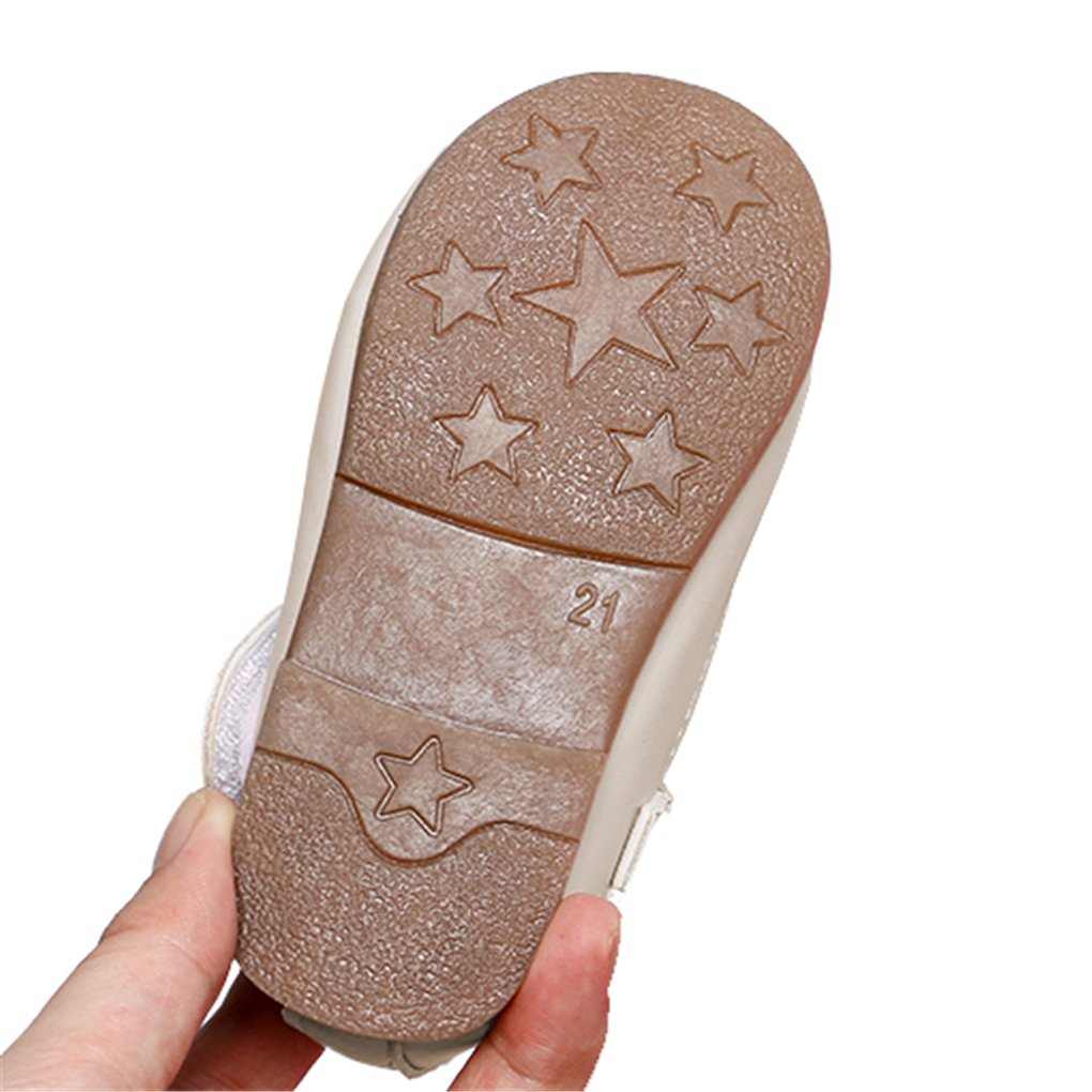 Toddler Girls Rabbit Ears Bowknot Mary Jane Flats Princess Costumes Dress Shoes Beige Size 24 by lakiolins (Image #6)